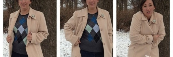 What I wore today – argyle in the snow