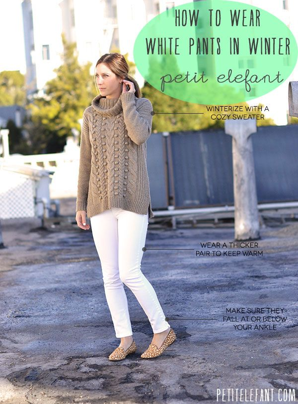 4 White jeans with camel sweater for fall : winter ...