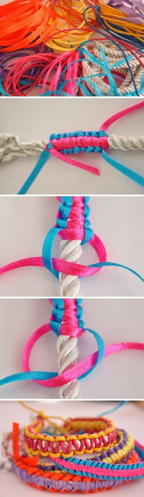 diy colorful bracelets