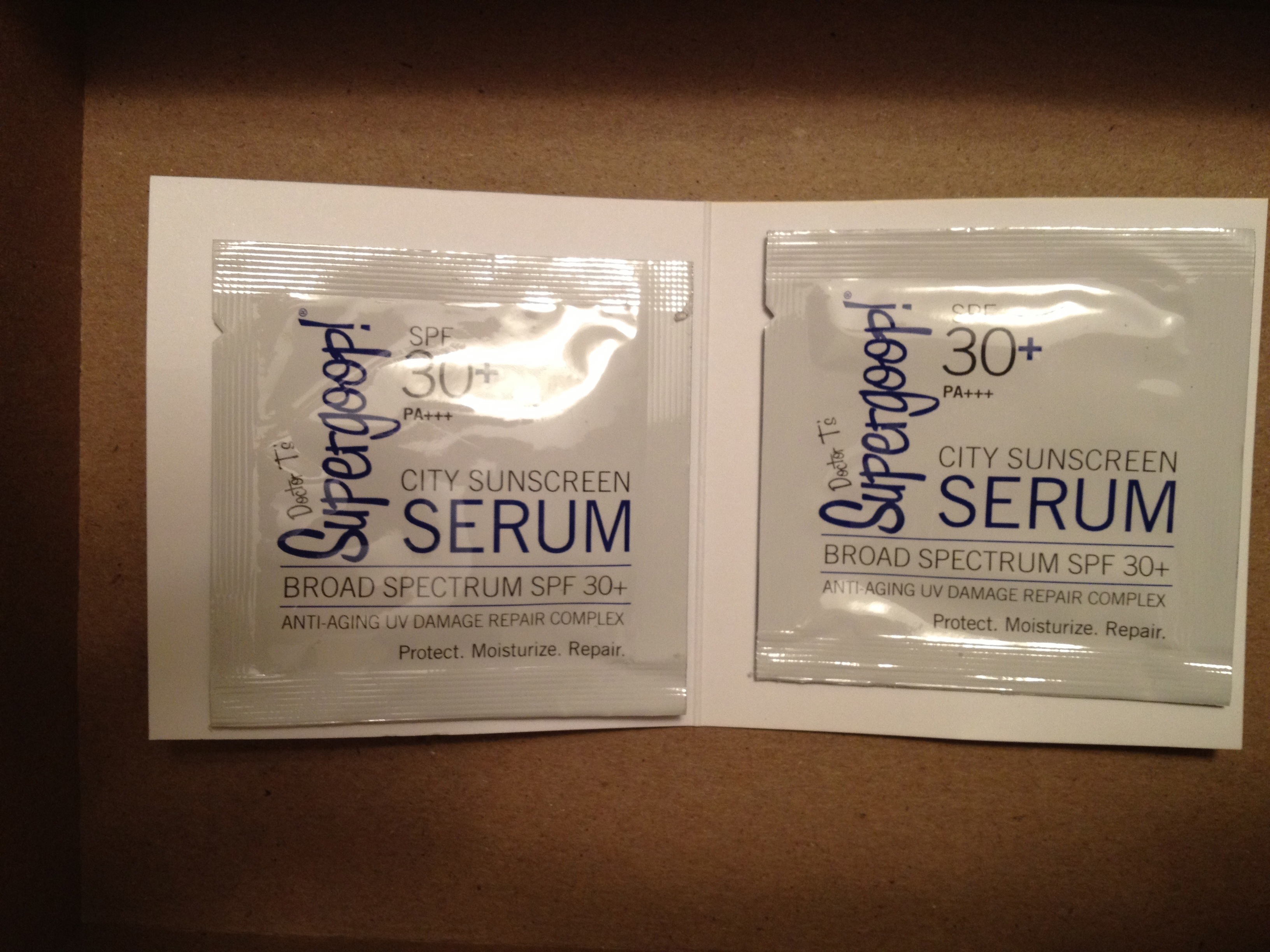 Birchbox Supergoop serum