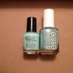 Color Club Blue-Ming vs Essie Turquoise and Caicos
