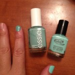 Color Club Blue-Ming vs Essie Turquoise and Caicos swatch