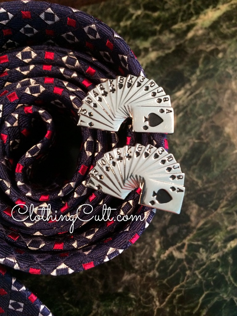 Dapperbox Review summer 2015 - poker card deck cuff links -  coupon code available at ClothingCult.com