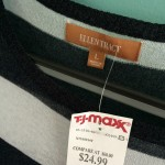 Ellen Tracy navy and white striped linen blend summer weight sweater. Bought for $24.99