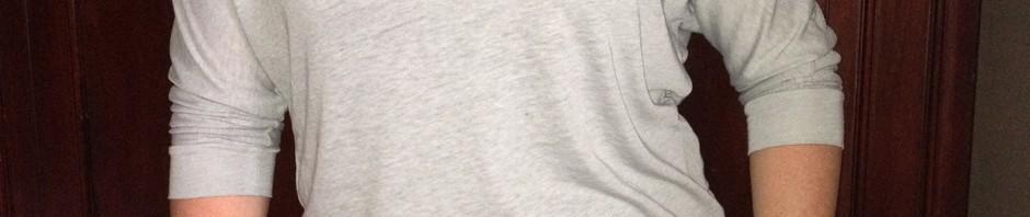 What I wore: Gray Slub Shirt and Rainboots