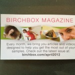 Birchbox April mini card front side