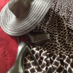 Derby Hat - Forever21 Basketweave Floppy Hat ; Shoes - SimplyVera from Kohl's ; Dress - white house / black market