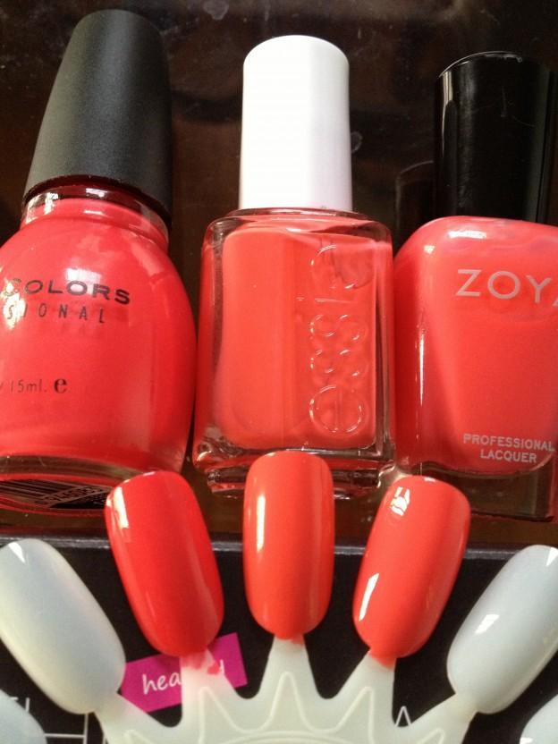 Sinful Colors Thimbleberry vs Essie Boat House vs Zoya Elodie ...