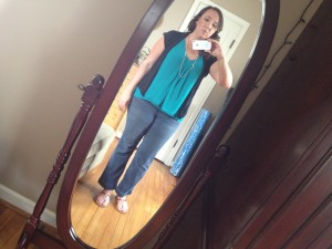 What I wore today breezy teal turquoise