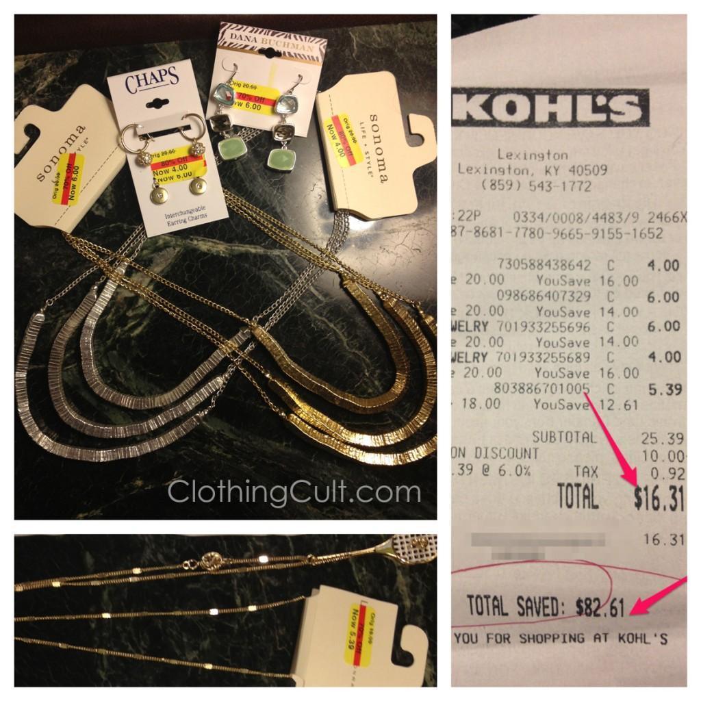 Kohls clearance jewelry haul Sept 2013