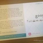 October birchbox goop card front letter