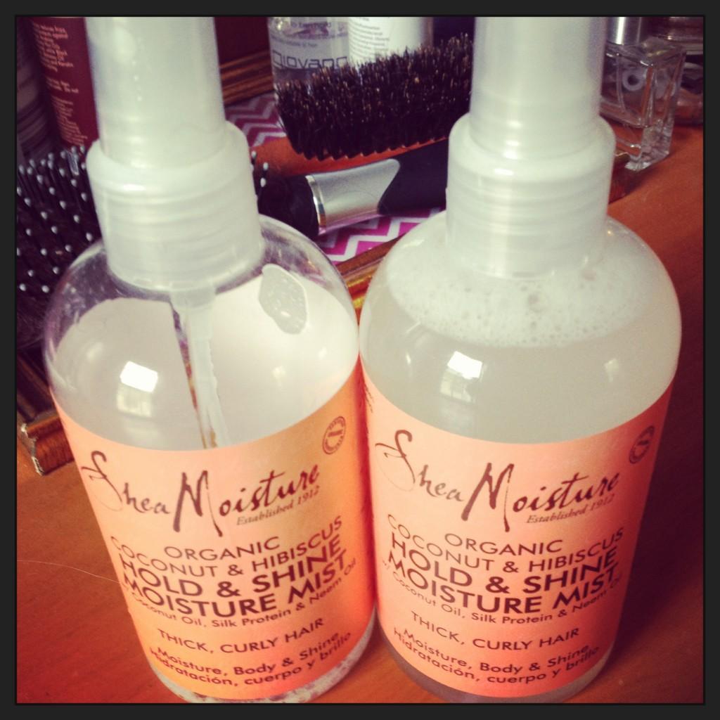 Shea Moisture Organic Coconut & Hibiscus Hold & Shine Moisture Mist