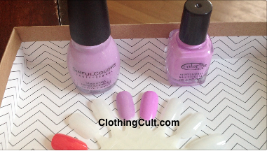"Swatch Color Club Wanderlust Collection ""Pardon My French"" for Birchbox vs Sinful Colors Sweet Tooth"