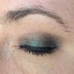 Urban Decay Moondust Zodiac swatch wet application closed natural light