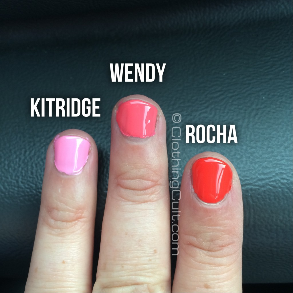 Zoya Rocha, Wendy & Kitridge swatches natural light - via ClothingCult.com
