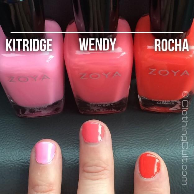 Zoya Rocha, Wendy & Kitridge swatches <br />Summer 2014 tickled collection