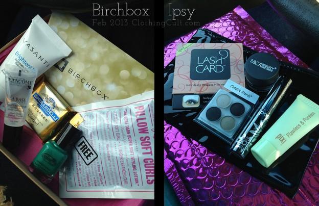 February 2013 subscription boxes – Birchbox VS Ipsy