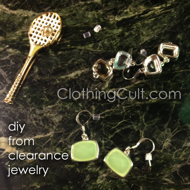 DIY jewelry remixing from Kohl's clearance jewelry